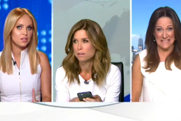 Australian TV host has tantrum over similar white shirts