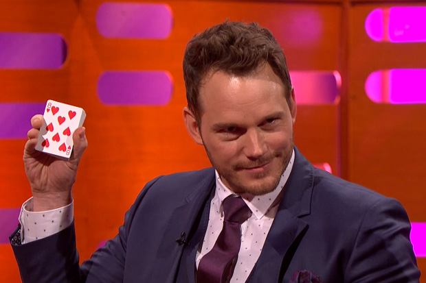 Chris Pratt will have you fooled with his signature magic trick
