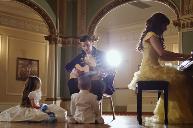 Adorable family recreates classic Beauty and the Beast song