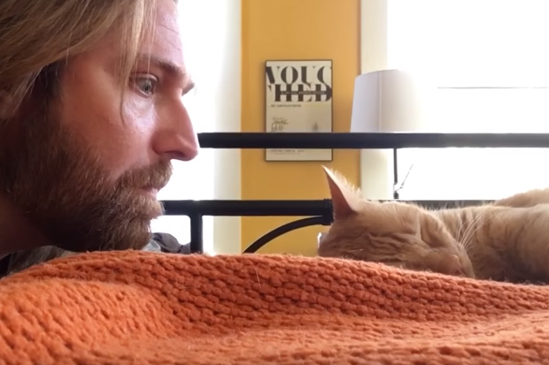 Guy gets revenge on his cat after it constantly wakes him up at 4am