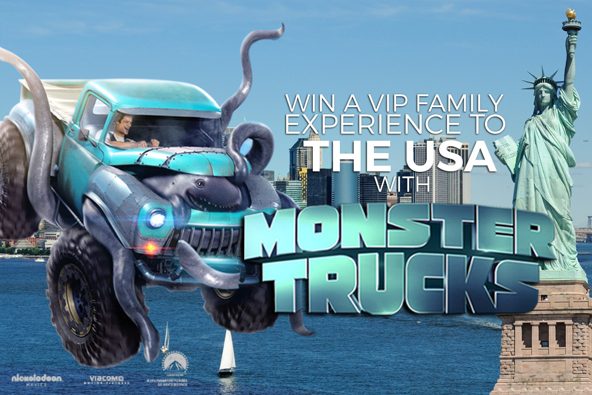 Win an exclusive Monster Trucks VIP family experience in USA!