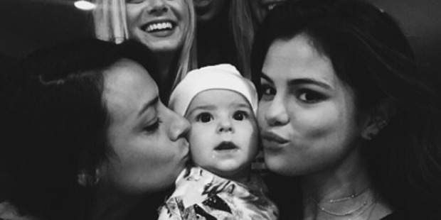 Selena Gomez snuggles up with Brooke Fraser and her daughter