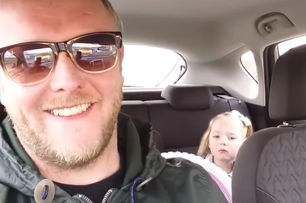 Little girl argues with dad over her future boyfriend