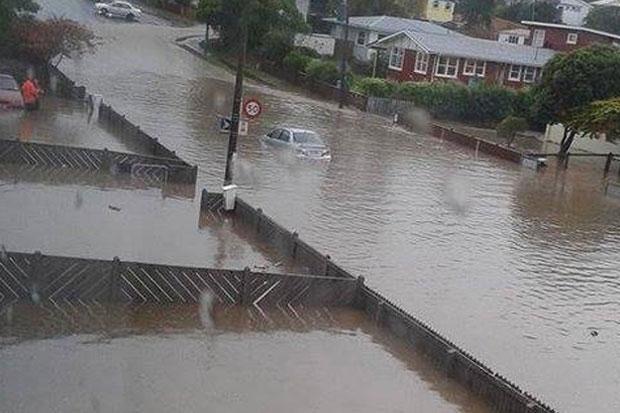 PHOTOS: Schools evacuated and roads blocked by Porirua Flooding