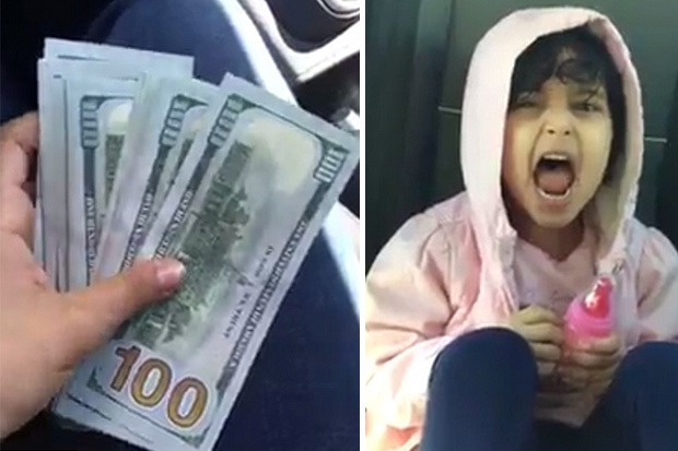 2 year old girl steals money from her dads safe to buy Zayn Malik