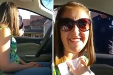 Police Officer pulls over girl to give her Justin Bieber tickets