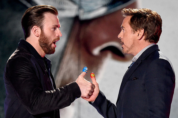 Chris Evans and Robert Downey Jr visit sick super fan