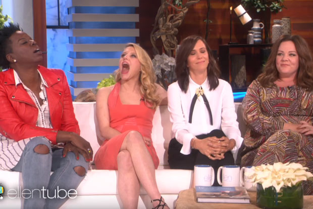 The 'Ghostbusters' Girls drool over Chris Hemsworth