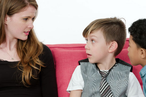 Little boys give women love and relationship advice