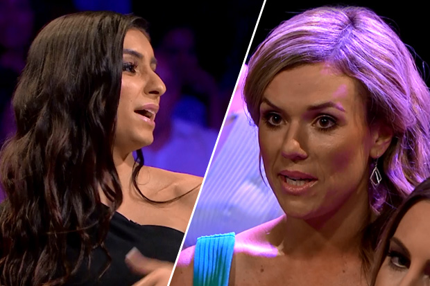 Naz and Wild Card Anna get catty on The Bachelor New Zealand 'Women Tell All' Special
