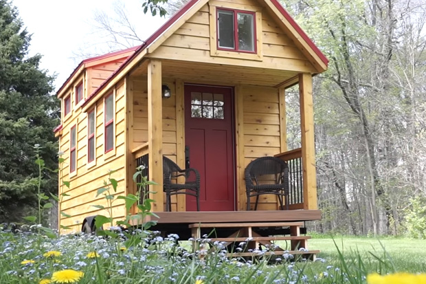 A 21-year-old couple build their own tiny home to be mortgage-free