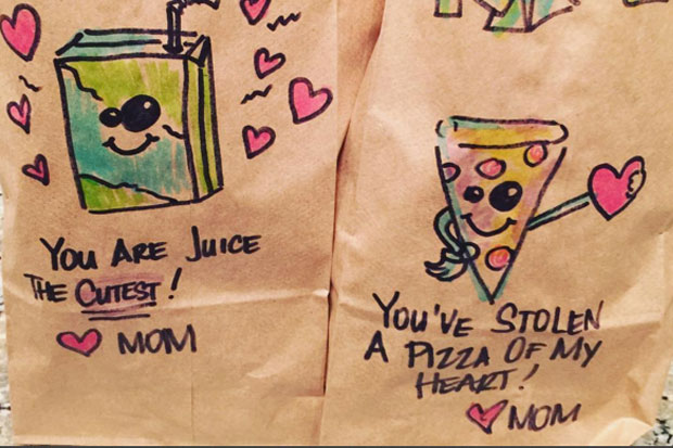 Mum puts together punny school lunches for her kids everyday
