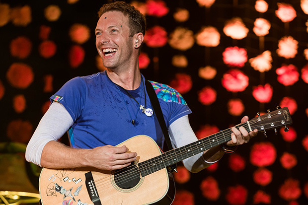 Chris Martin's kids steal the show at Coldplay's Glastonbury performance