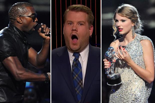 James Corden gets involved in the Kanye West/Taylor Swift scandal
