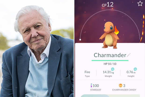 Sir David Attenborough narrates the world of Pokemon Go