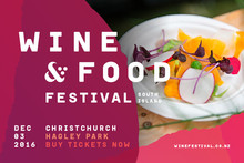 SOUTH ISLAND WINE & FOOD FESTIVAL PRE SALE  TICKETS ON SALE TODAY!