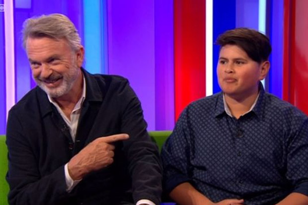 Sam Neill gets upstaged by 'Wilderpeople' co-star Julian Dennison