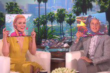 Dory and Princess Anna meet for the first time on Ellen