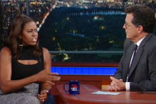 Michelle Obama shows off her Barack impersonation