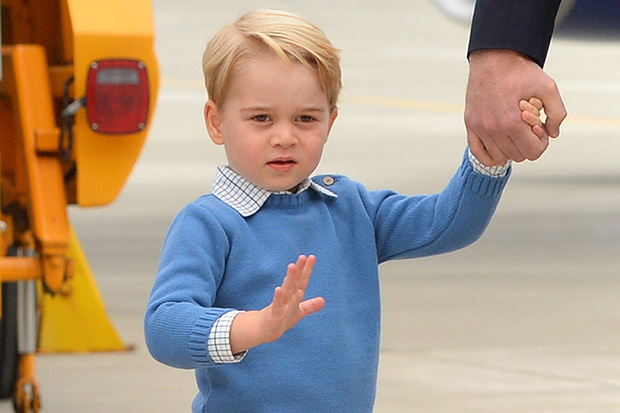 Prince George denies the Canadian Prime Minister a high-five