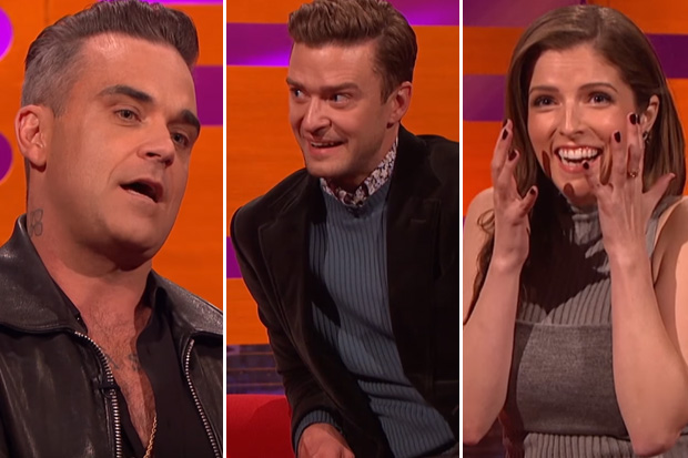 Robbie Williams shocks Graham Norton guests with his craziest fan encounter