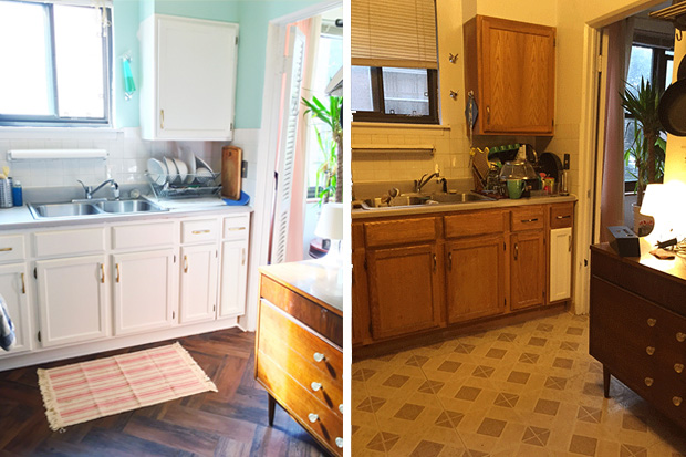 This woman redecorated her whole kitchen with only $100!