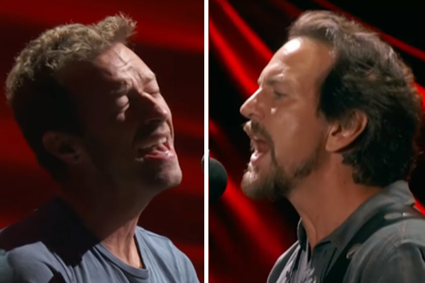 Chris Martin & Eddie Vedder take on 'Don't Dream It's Over'
