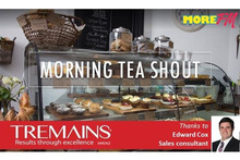We want to shout you morning tea !