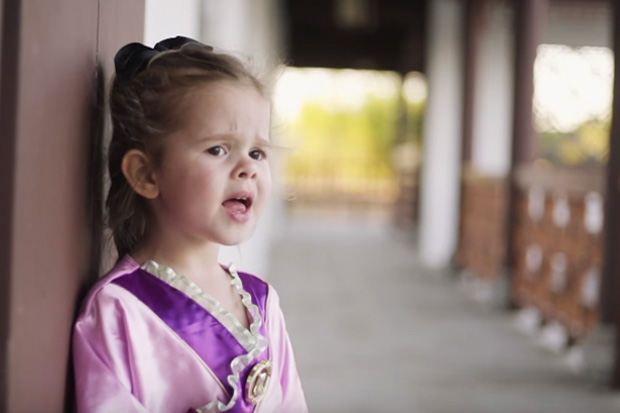 3 year-old stunningly sings Disney song 'Reflection'