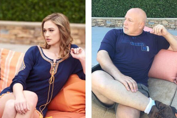 Dad re-creates daughters modelling shots after staying at the same hotel