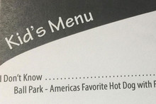 Restaurant makes kids menu from the most common things they say