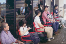 These motorised chairs aim to take the stress out of waiting in line