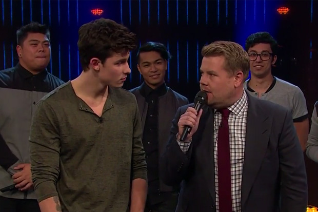 James Corden and Shawn Mendes sing-off to decide which decade of music is the best