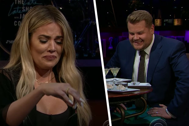 The excruciating moment James Corden tells Khloe Kardashian about the rudest celebrity he's met