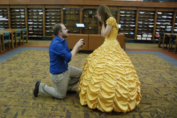 This amazing boyfriend plans a Beauty and the Beast themed proposal and it is perfect