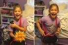 Girl meets her kitten for the first time and cries tears of joy