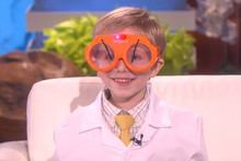 Ellen DeGeneres meets a six-year-old science podcaster with adorable spirits