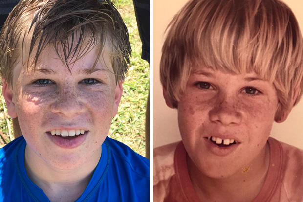 Terri Irwin shares pic showing just how much her son Robert looks like Steve!