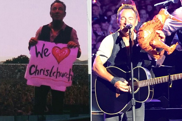 Bruce Springsteen dedicates song to Christchurch on eve of earthquake anniversary