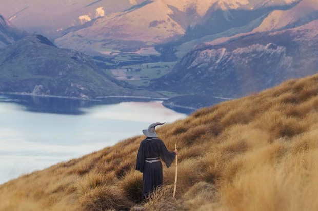 Auckland photographer travels NZ getting tourists to dress as Gandalf