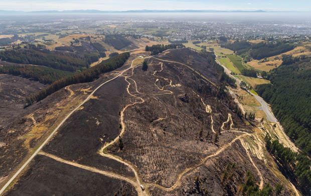 Photos reveal scale of damage from Port Hills fire