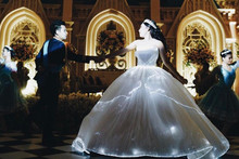 Bride has unbelievable light-up dress for Disney-themed wedding